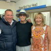 The late Joe Longthorne MBE with two good friends Paul Teasdale and Tracy Clark at the Middlesborough Theatre 20 July 2019. Joe was delighted to meet up with Paul and Tracy again for a good chat. Sadly Middlesborough turned out to be the last but one show before Joe passed away on 3 August 2019.Paul and Tracy will forever treasure this photo.