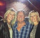 Joe Longthorne with Angela Woodward and Kim Sutherland at Wyllotts theatre Potters Bar June 2014