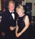 Joe with his very good friend, the late Mrs Patricia Mancini.
