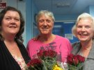 Joe Longthorne with some delighted fans after a recent show....