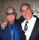 Joe Longthorne with Dave Halliday at Joe's Birthday Party this year 2014.