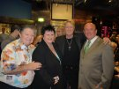 Joe with Johnnie Casson,Leye D Johns and Caz Kaye at the JLFC Bash 2010.