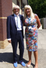 Joe Longthorne with Chief Executive Wendy Swift.
