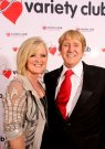 Joe with Bernie Nolan at his Variety Club Silver Heart Evening March 2010