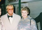 Joe Longthorne with long time fan Val Pass.