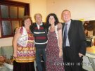 Joe Longthorne with The Backhouse Family -Daughter Michelle, Mum Lindsey and Dad Eddie.