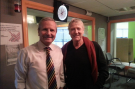 Joe Longthorne with Peter Levy at BBC Radio Humberside 14/12/12