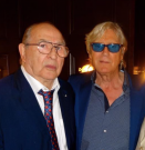The late Joe Longthorne MBE with Freddie Foreman at The Hippodrome Casino 31 May 2015, on the occasion of Joe's 60th Birthday.