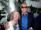 Joe Longthorne with long time fan Patricia Murray at Viva Blackpool, Annual Friendship Club party July 2015.
