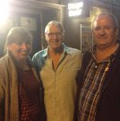 Joe with Mandi and John Gumble at Bromley's Churchill Theatre 7 September 2014.