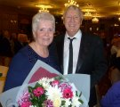 Joe Longthorne with Sylvia Carey at International Cabaret's 'Up Close and Personal Event at The Royal Toby Hotel, Rochdale.