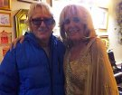Joe Longthorne with Mona Atkinson after the show At Brick Lane Music Hall April 2018.