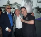 Joe Longthorne with Phil Taylor and Johnny Duffy, Viva Blackpool July 2015.