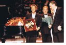 Joe receiving a special gold disc for a record breaking season at Blackpool in 1993.