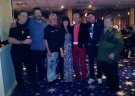 Joe Longthorne with Johnnie Casson and  MD Andy Mudd, Tour Manager Cliff Mair, Musicians Alan Wormald and Tom Read and Vocalist Shelley James-Wormald Viva Blackpool 2016.