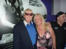 Joe Longthorne and a lovely lady called Ann at Viva Blackpool for the Annual Friendship Club party 2015.
