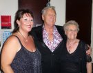 Joe Longthorne with Tracey Jordan and one of his many devoted fans at Blackpool Dec 2013.