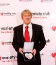 Joe with his Variety Club Silver Heart Award March 2010