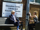 Joe Longthorne chatting to Jessica from That's Lancashire TV Channel who kindly came along to cover the events, their newsreels of Joe's visit are available on YouTube and their website.