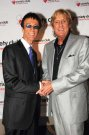 Joe with the late Robin Gibb, Summer 2009.