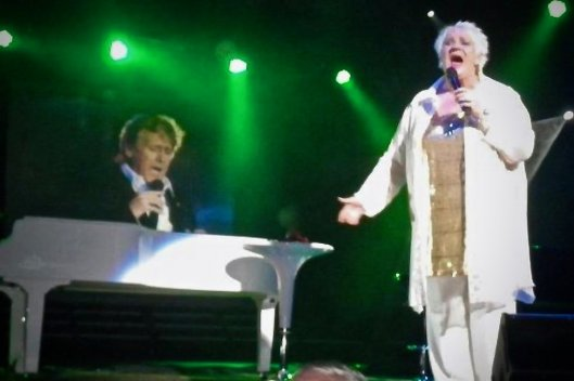 The late great Angie Greer with Joe Longthorne at The Benidorm Palace 2011