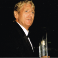 Joe Longthorne receiving a 'Lifetime Achievement ' award from Variety UK The Children's Charity in 2007.