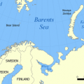 Barents Sea where 'The Gaul' sunk.