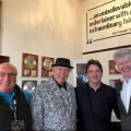 Roy 'Chubby' Brown with Joe's husband Jamie Moran together with Tony Jo and Keith Hammersley.